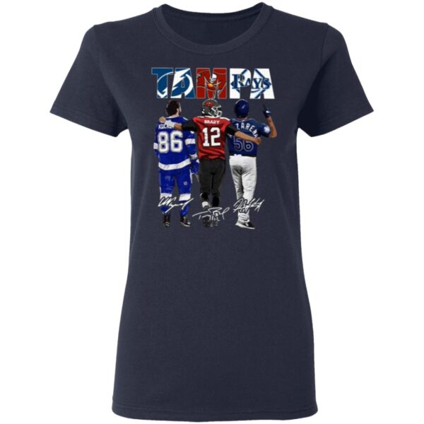 Tampa Bay Rays Nikita Kucherov Tom Brady Randy Arozarena Signatures T-Shirt