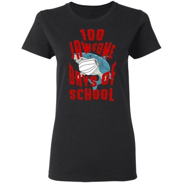 Shark Wearing Mask 100 Jawsome Days of School Youth T-Shirt
