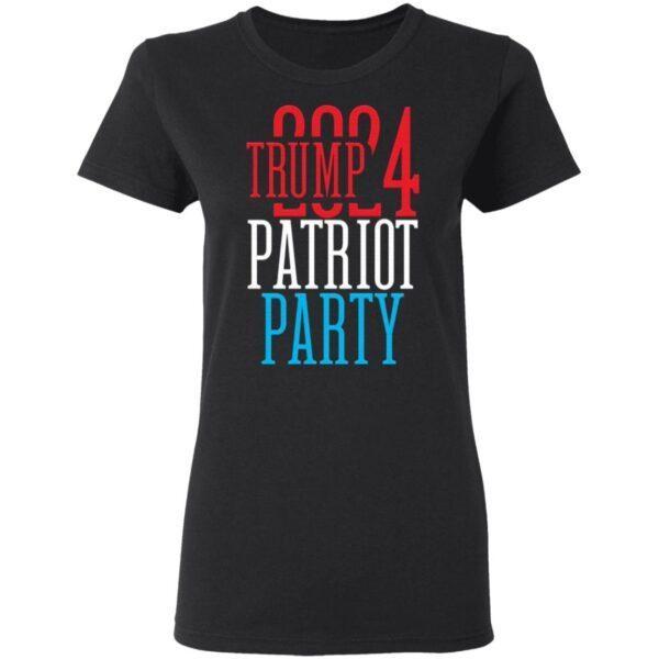 Trump 2024 Patriot Party T-Shirt