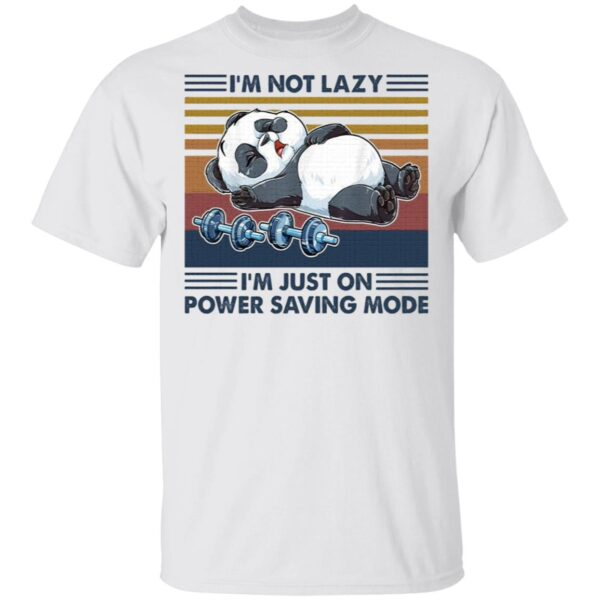 Bear I'm not lazy I'm just on power saving mode T-Shirt