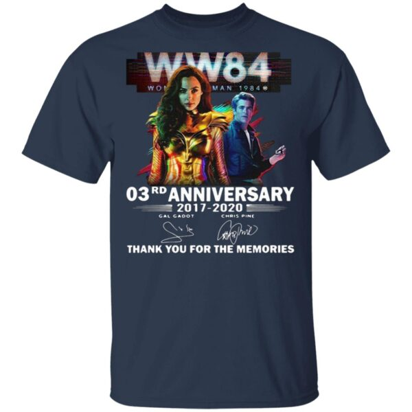 WW84 Wonder Woman 1984 03rd anniversary 2017-2020 thank you for the memories signatures T-Shirt