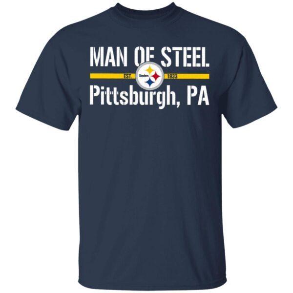 Man Of Steelers Logo Est 1993 Pittsburgh Pa T-Shirt