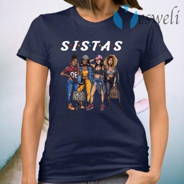 Black Sistas Queen Melanin Afro Girl African American T-Shirt