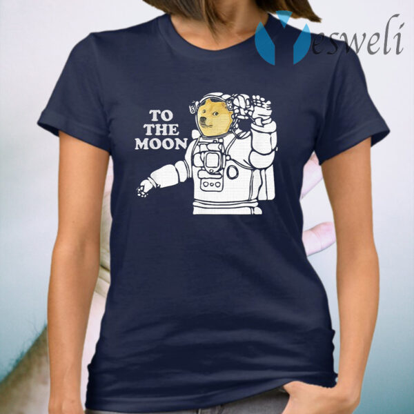 Dogecoin To The Moon Cool T-Shirt