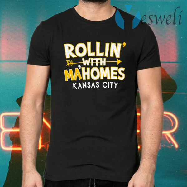 Great KC Red Rollin With Mahomes Kansas City T-Shirt