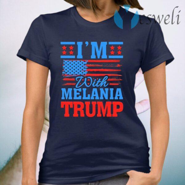 I'm with Melania Trump Pro Trump Biden Not My President Political T-Shirt
