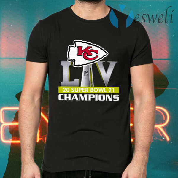 Kansas City Chiefs Liv 2021 Super Bowl Champions T-Shirt