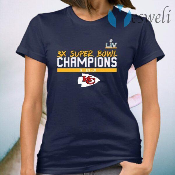 Kansas city chiefs 3x super bowl champions T-Shirt