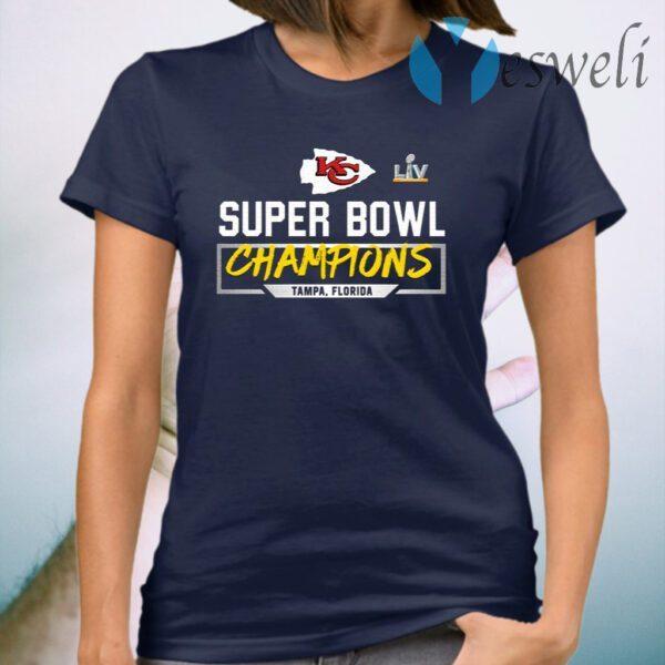 Kansas city chiefs super bowl LV 2021 Champions Tampa Florida T-Shirt
