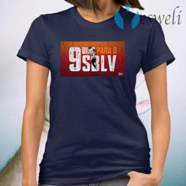 Lucky Dias Para O 9 SBLV Nfl 2021 T-Shirt