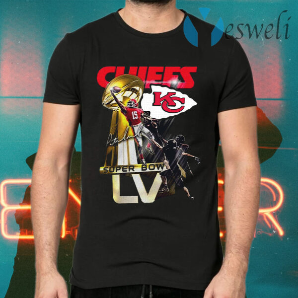 Patrick Mahomes Of Kansas City Chiefs Super Bowl Liv Champions 2021 T-Shirt