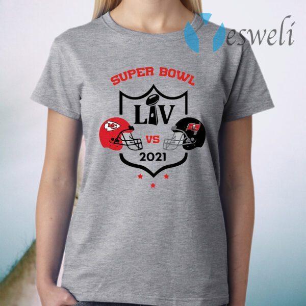Super Bowl LIV Kansas City Chiefs Vs Tampa Bay Buccaneers 2021 T-Shirt