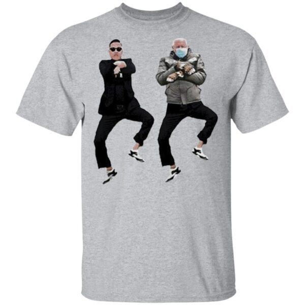 Bernie Sanders Meme With Psy Gangnam Style 2021 T-Shirt