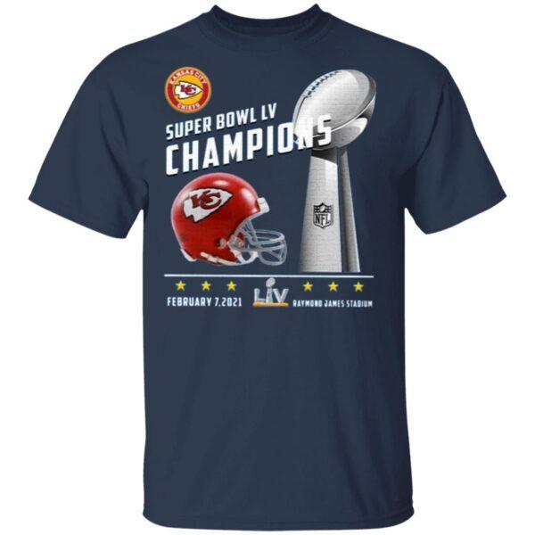 Kansas City Chiefs Super Bowl LV 2021 Champions T-Shirt
