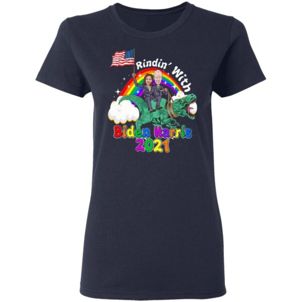 Riding Dinosaur with Biden Harris 2021 46th President Madame Vice President T-Shirt