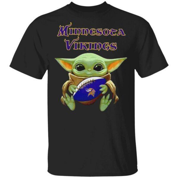 Baby Yoda Hug Minnesota Vikings 2021 T-Shirt