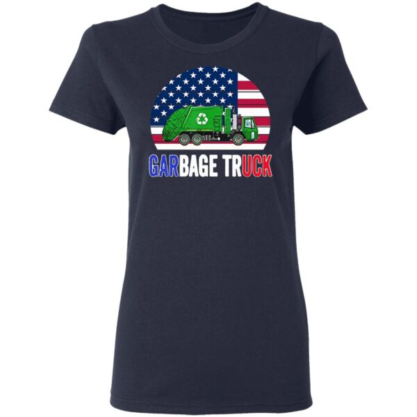 American Flag With Garbage Truck T-Shirt