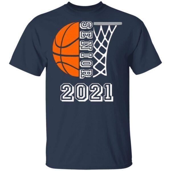 Graduate Senior Class 2021 Graduation Basketball Player T-Shirt