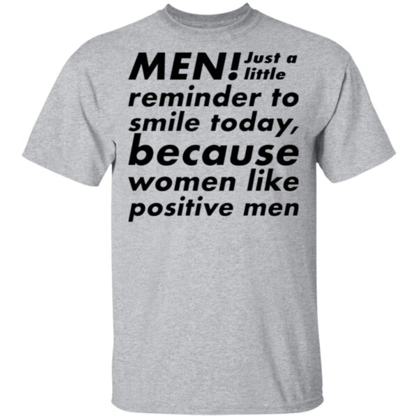 Men just a little reminder to smile today T-Shirt
