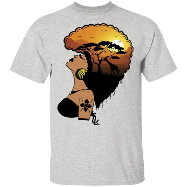 Safari Goddess Black Woman African Elephant T-Shirt