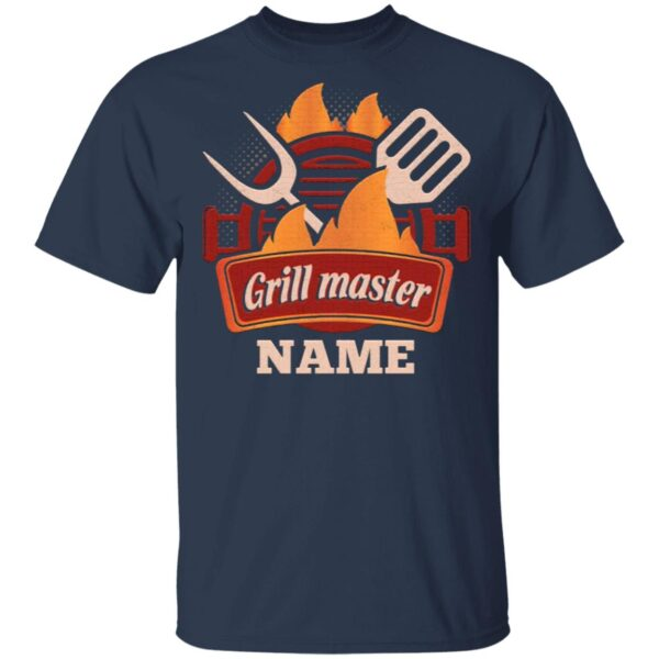 Personalized Grill Master T-Shirt