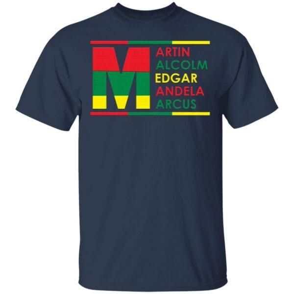 Martin Luther Nelson Mandela Black History Month T-Shirt
