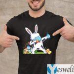 2021 Dabbing Easter Bunny Wearing Mask T-Shirt