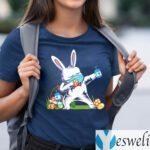 2021 Dabbing Easter Bunny Wearing Mask T-Shirts
