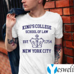 Alexander Hamilton King's College School Of Law Est 1954 New York City TeeShirts