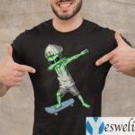 Alien Dabbing Skateboard Shirt