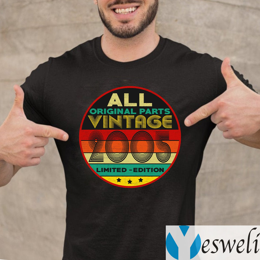 All Original Parts Vintage 2005 Limited Edition TeeShirts
