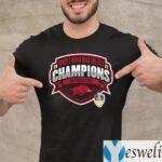 Arkansas Razorbacks 2021 SEC Women's Indoor Track & Field Conference Champions T-Shirt