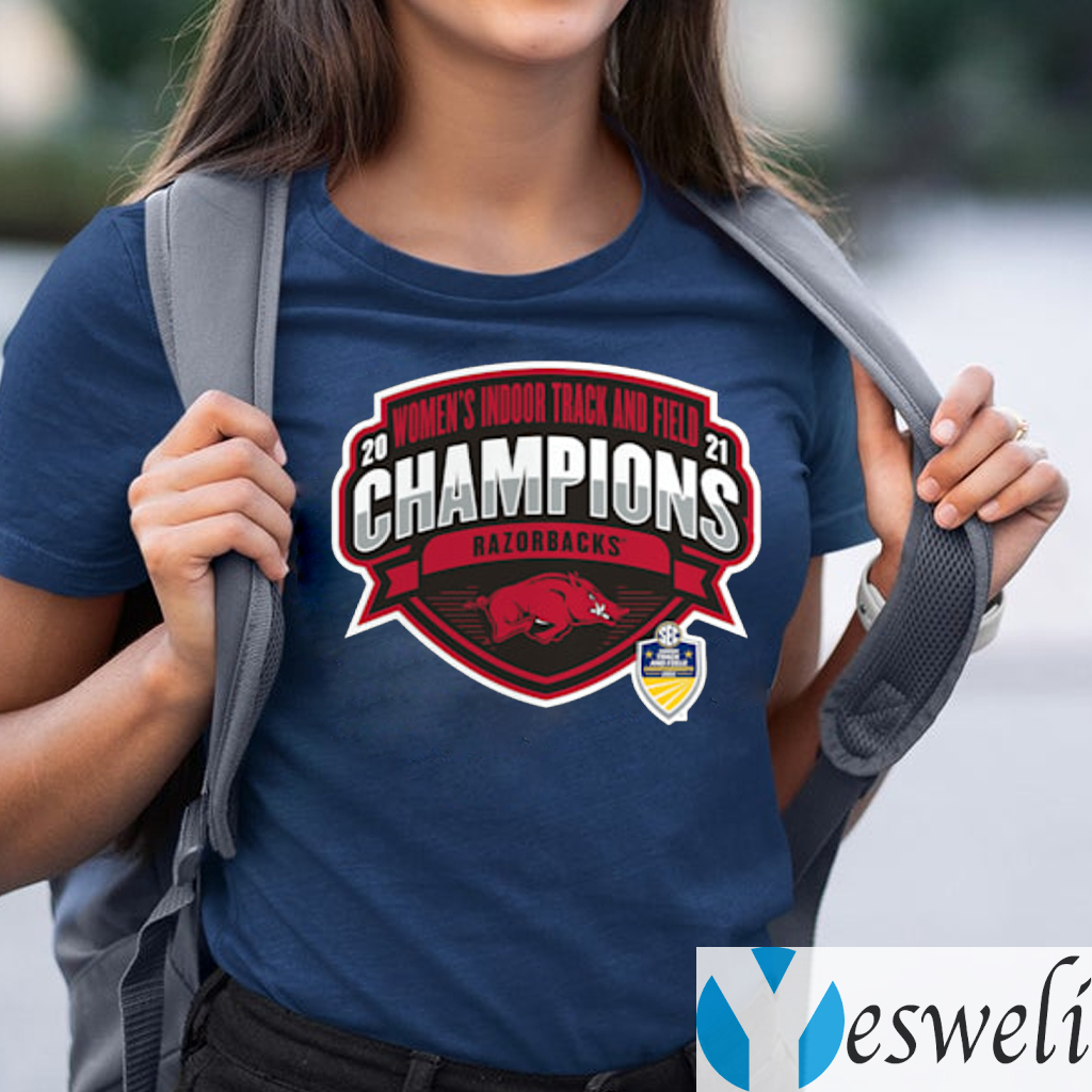 Arkansas Razorbacks 2021 SEC Women's Indoor Track & Field Conference Champions T-Shirts