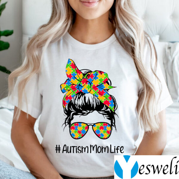 Autism Mom Life I Love Someone with Autism Autism Awareness Shirt