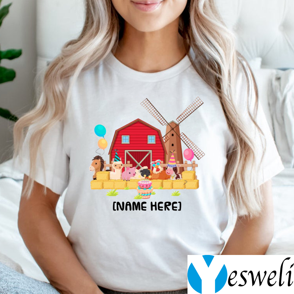 Birthday Farm With Animals Shirt