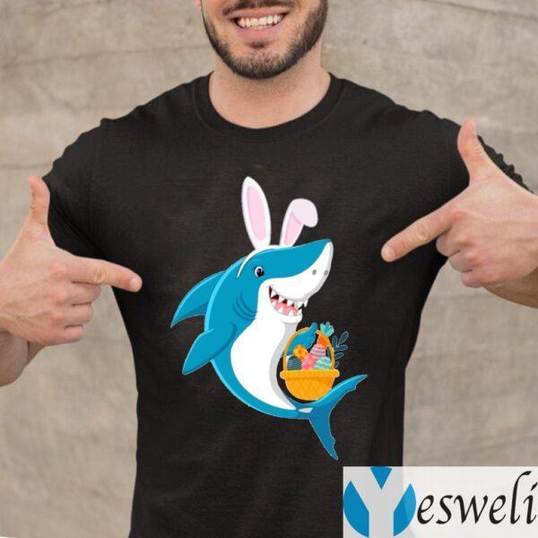 Bunny Shark Doo Doo Doo Easter Egg T-Shirt