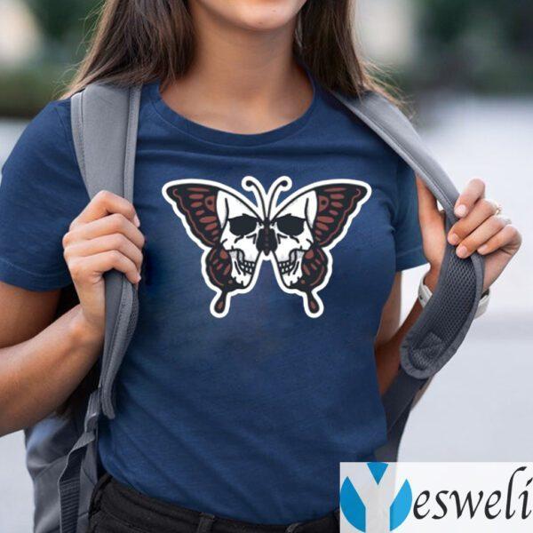 Butterfly Skull Illustration Shirt