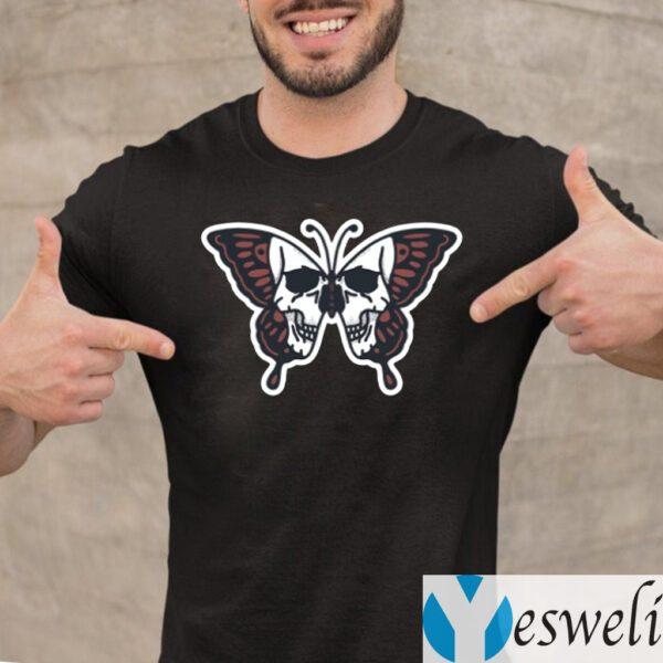 Butterfly Skull Illustration Shirts