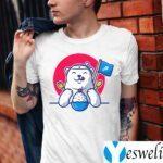 Cute polar bear eating ice cream T-Shirt