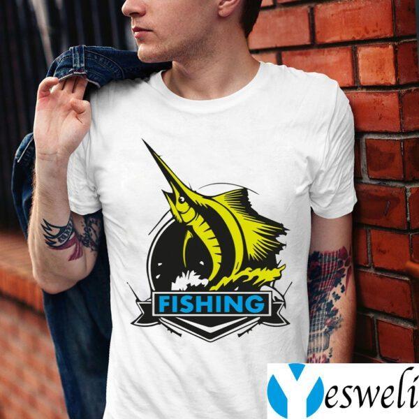 Fishing On Rough Seas Shirts