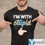 I'm with Stupid Bestie Couple TeeShirts