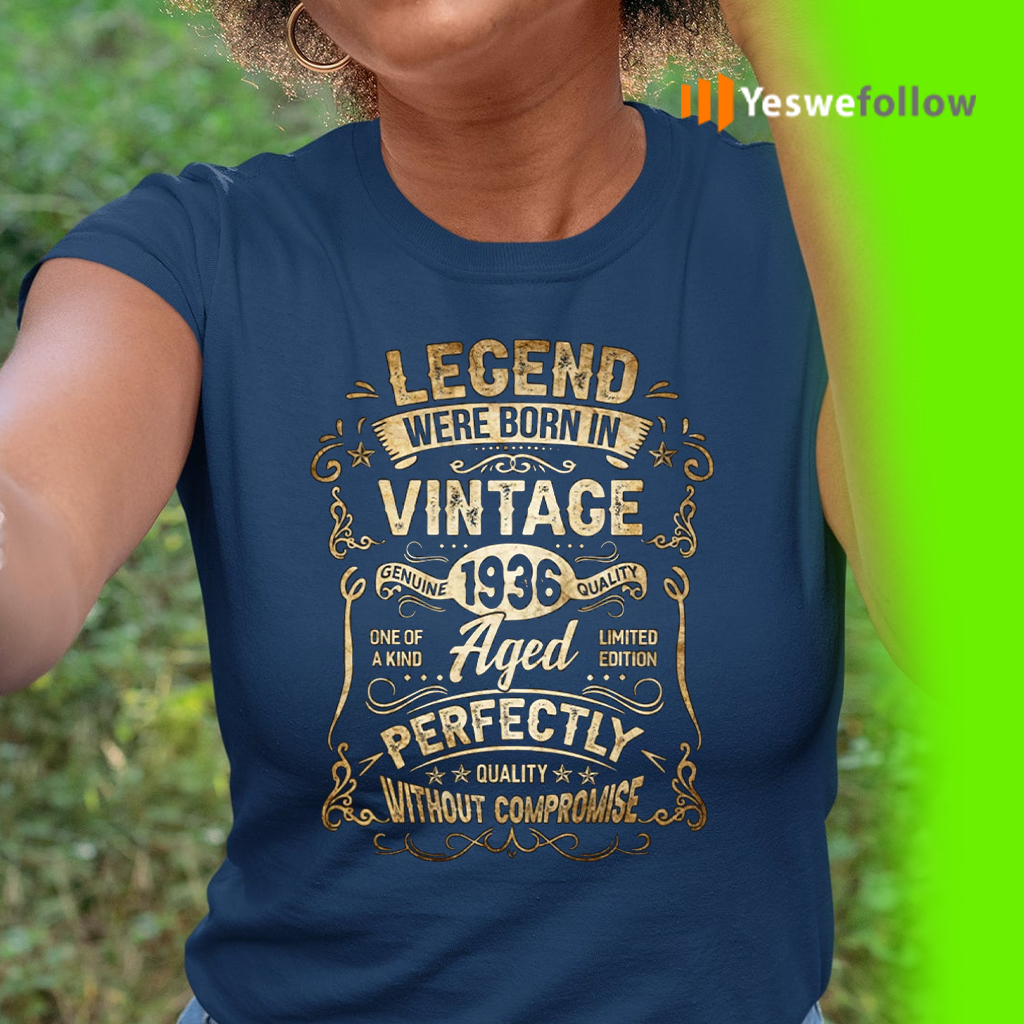 Legends Were Born in 1936 85th Birthday 85 Years Old TeeShirts