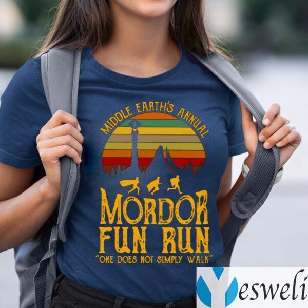 Middle Earth's Annual Mordor Fun Run One Does Not Simply Walk TeeShirt