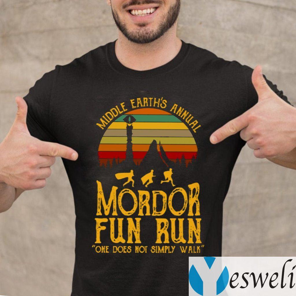 Middle Earth's Annual Mordor Fun Run One Does Not Simply Walk TeeShirts