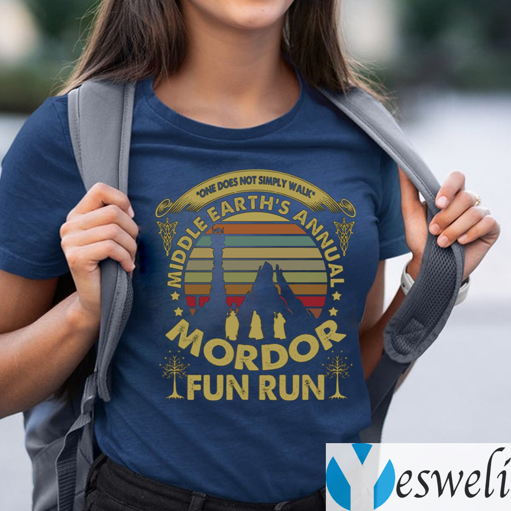 One Does Not Simply Walk Middle Earth's Annual Mordor Fun Run Sunset Vintage Shirt