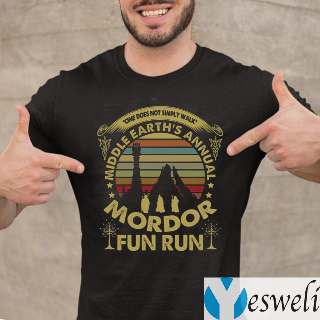 One Does Not Simply Walk Middle Earth's Annual Mordor Fun Run Sunset Vintage Shirts