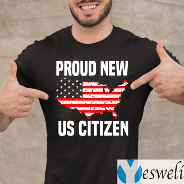 Proud New Us Citizen American Flag Shirts