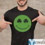 Shamrock Green Happy Face St Patricks Day Shirt