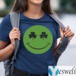 Shamrock Green Happy Face St Patricks Day Shirts