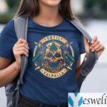 Until Valhalla Warrior Blood Skull Print On Back T-shirts
